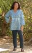 Sale Tyler Side Slit Bracelet Sleeve Crinkle Cotton Tunic