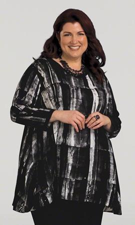 Print 100% Rayon Bracelet Sleeve Alaric Batik Tunic