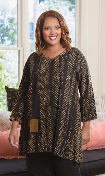 Sale Lenore Batik Long Sleeve Tunic