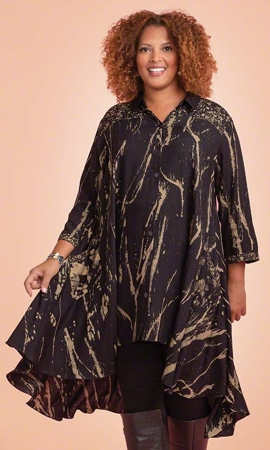 Birdie Batik Long Sleeve Plus Size Dress 1X-8X