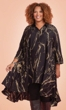 Hand-Painted Woven Rayon Long Sleeve Birdie Batik Dress