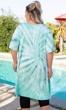 Tie-Dye Cotton Rayon Short Sleeve V-Neck Cara Tunic