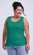 Sale 100% Cotton Round Neck Solid Ribbed Tank Top