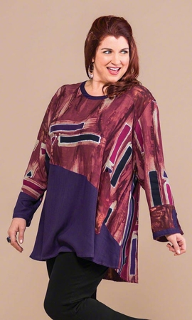 Haight Batik Long Sleeve Plus Size Tunic 2X-8X