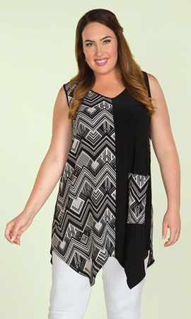 Zoe Sleeveless Plus Size Tunic 0X-8X
