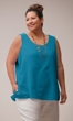 Sale Crinkle Cotton Solid Tank Top