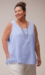 Crinkle Cotton Solid Tank Top