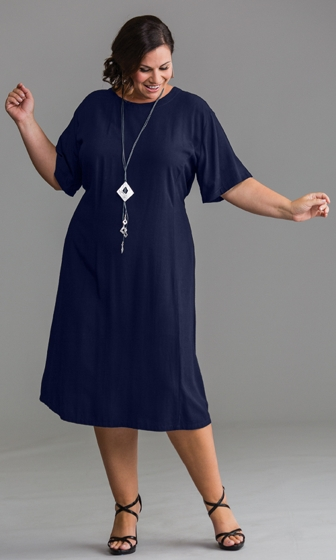 Short Sleeve Belle Rayon Dress