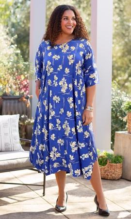 Printed 3/4 Sleeve Edyth Dress