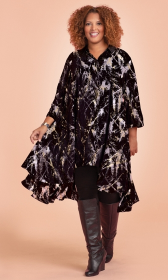 Birdie 3/4 Sleeve Tunic Dress with Pockets
