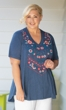 Sale Locarno Short Sleeve Embroidered Top