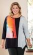 Sale Tori Asymmetrical Hemline 3/4 Sleeve Mango Tunic