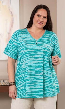 Celina Swing Short Sleeve Plus Size Top 2X-8X