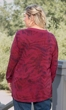 Sale Guinevere Ribbed Collar Long Sleeve Cotton Knit Top