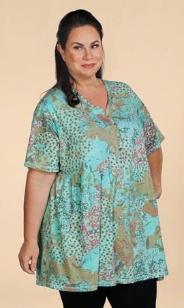 Short Sleeve Meili Plus Size Babydoll Top 0X-8X