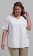 100% Cotton Jersey Knit Short Sleeve V-Neck Solid Tee