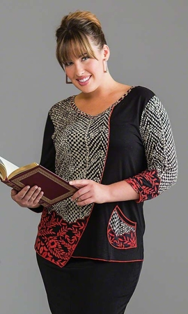 Romy Long Sleeve Plus Size Top 1X-8X