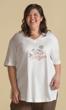 Print 100% Cotton Short Sleeve V-Neck Happy Halloween Tee