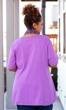 Sale Idalia Detail Solid Short Sleeve Cotton Knit Top