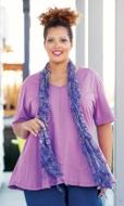 Idalia Detail Solid Short Sleeve Cotton Knit Top
