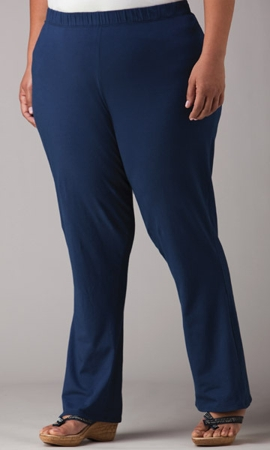 Sale Anywhere Solid Cotton Lycra Pants