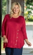Sale Button Detail Soft Knit Bracelet Sleeve Round Neck Solid Tamsin Tunic