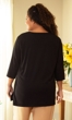 100% Cotton Jersey Knit 3/4 Sleeve Round Neck Solid Tee