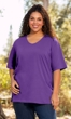 Sale 100% Cotton Jersey Knit Short Sleeve V-Neck Solid Tee