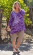 Hand-Painted 100% Cotton 3/4 Sleeve Round Neck Caiden Tunic