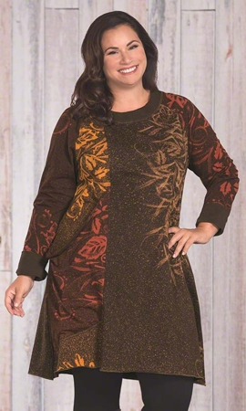 Caprice Long Sleeve Plus Size Tunic 1X-8X