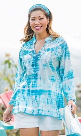 Shyla Embroidered Long Sleeve Tunic
