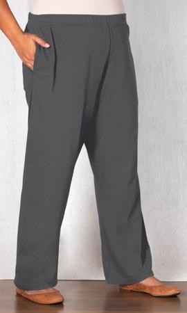 Cotton Knit Wide Leg Pants