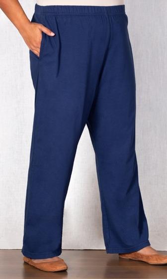 Cotton Jersey Wide Leg Knit Pants