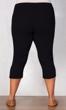Pull On Linen Plus Size Capri Pants