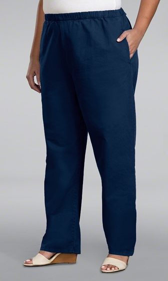 Relaxed Leg Stretch Cotton Twill Pants