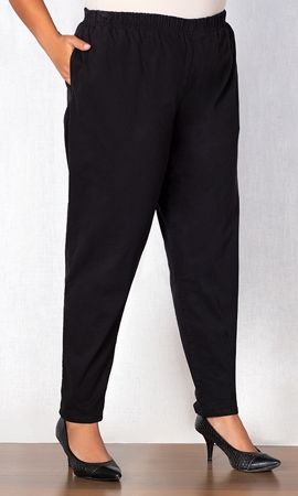 Tailored Leg Stretch Cotton Twill Pants