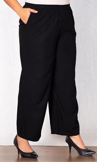 Wide Leg Rayon Pants