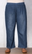 Wide Leg Premium Wash Cotton Denim Jeans