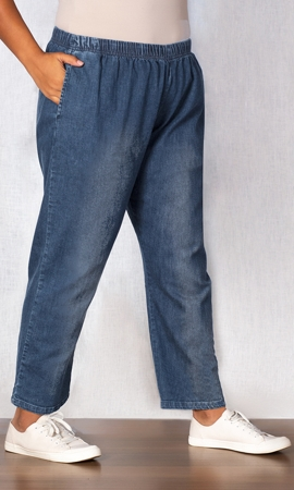 Relaxed Leg Premium Wash Cotton Denim Jeans
