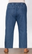 Wide Leg Premium Wash Five Pocket Cotton Denim Jeans