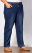 Relaxed Leg Premium Wash Five Pocket Cotton Denim Jeans