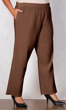 Sale 100% Crinkle Cotton Wide Leg Solid Pants