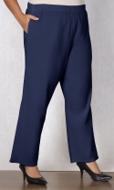 100% Crinkle Cotton Wide Leg Solid Pants