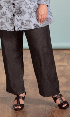Sale Solid Cotton Wide Leg Jeans