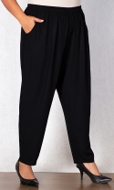 Essential Tailored Rayon Solid Pants