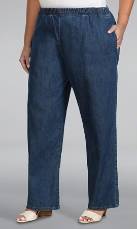 Wide Leg Solid Jeans