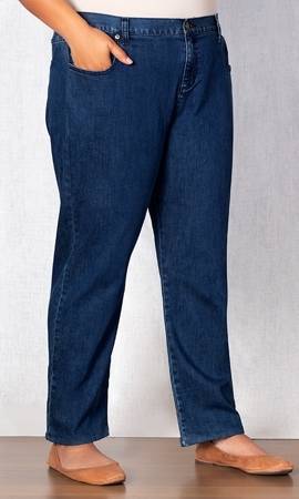 Five Pocket Relaxed Fit Solid Jeans