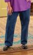 Five Pocket Wide Leg Solid Jeans