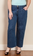 Five Pocket Wide Leg Solid Jeans