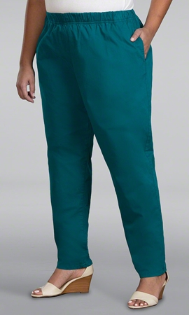 Classic Tailored Stretch Twill Solid Plus Size Pants 2X-8X